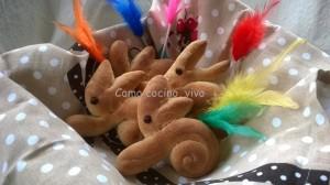 Conejos de Pascua de pan